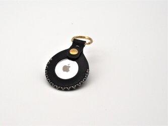イタリアンレザーのAirtagケース(ブラック)の画像