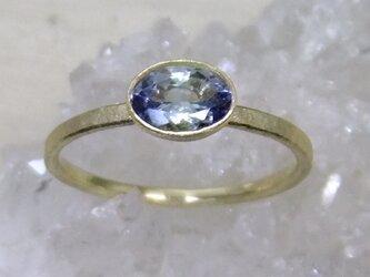 バイカラータンザナイト*K10 ringの画像