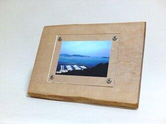 木製写真立て 壁掛け対応 No.1 栃の天然木(KG-21)の画像