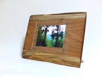 木製写真立て 壁掛け対応 No.4 胡桃の天然木(KG-22)の画像