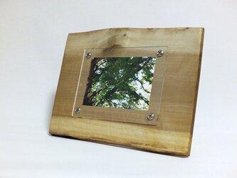木製写真立て 壁掛け対応 No.5 朴の天然木(KG-23)の画像
