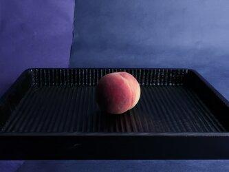 我谷盆写し燻拭き漆仕上げ(#0)。桃は、販売いたしません。の画像