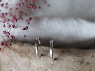 フープピアス きゃしゃ S × つちめ両耳用 silver950の画像