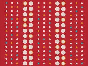 風呂敷 水玉縞 エコふろしき ポリエステル100% 68cm×68cm 赤の画像