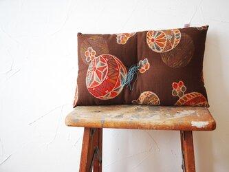 かき餅座布団『手毬』茶色の画像
