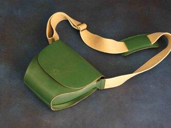 ポストマンバッグS#greenNUME-Leatherの画像