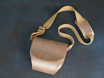 ポストマンバッグS#Silver NUME-Leatherの画像