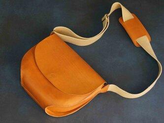 ポストマンバッグL#CAMEL NUME-Leatherの画像