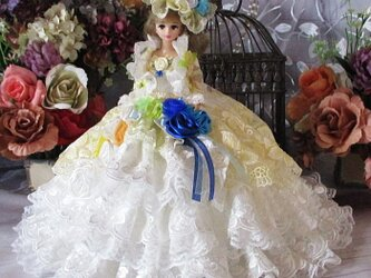 王妃マリーアントワネットのレースボレロ アシンメトリー2Wayドレス 豪華4Pの画像