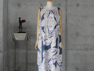 着物リメイク 浴衣のロングワンピ/ゆとりのMの画像