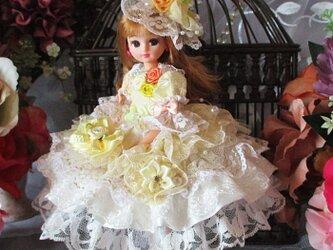 シャーベットオレンジの妖精 ロリータロマンス プリンセスドレス 豪華4点セットの画像