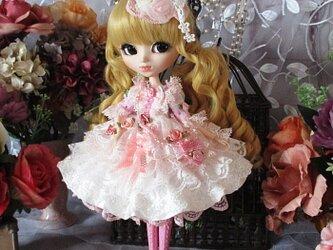 スウィートピンクの妖精 ロリータロマンス プリンセスドレス 豪華4点セットの画像