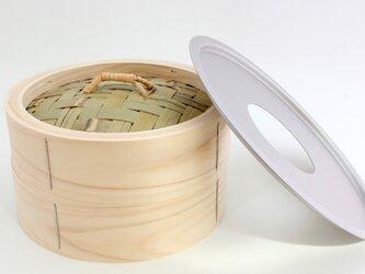 国産桧中華せいろ21cm+受け皿(和晒ふきん付き)の画像