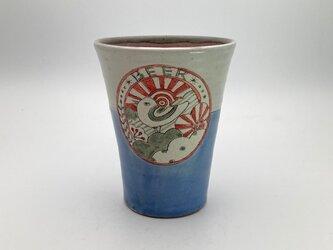 鳥のビアマグ(ビールカップ)の画像