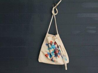 パレット・アシンメトリー巾着BAG#KipLeatherの画像