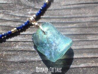 *14kgf*銀化☆ローマングラスのネックレス*Ancient Romanglassの画像