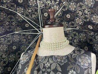 大島紬のワンピースドレス&日傘 薫風の画像