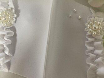 冷感マスク白フリルパール洗える UVカット 接触冷感 花粉症  ウィルス 対策 涼しいマスク 夏用マスクの画像
