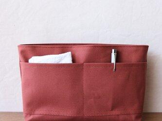 レンガ 倉敷産帆布使用バッグインバッグ【受注製作】の画像