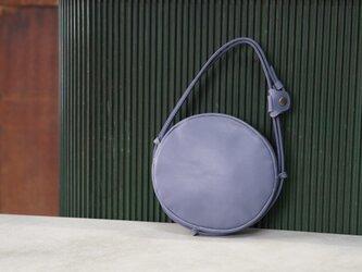 セメントブルーma-ruポシェット◎内装キーホルダー付き:ポケット機能充実しています。の画像