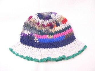 マルチカラーニット帽子の画像