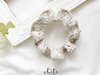 【sale】シュシュ 夏 リネン フレンチ 麻 / ホワイトの画像