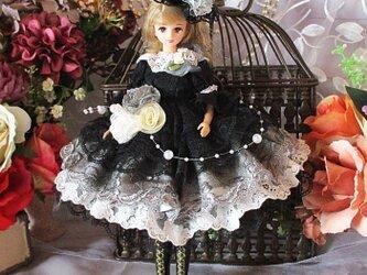 黒のシンフォニー ゴシックロリータのプリンセスロマンスドレス 豪華5点セットの画像