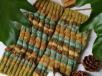ひまわり〜オパール毛糸の短いレッグウォーマーの画像