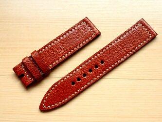 腕時計ベルト 19-19mm ミリタリー ブラウン #104の画像