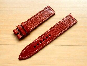 腕時計ベルト 18-18mm ミリタリー ブラウン #105の画像