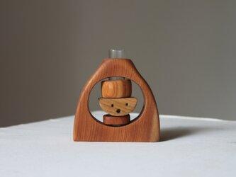 木の花瓶【カバ】の画像