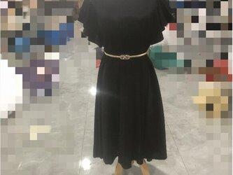 小さいサイズもあり★ウェディングドレス★カラードレス★黑★ベルベット生地★ロング★お呼ばれドレスの画像