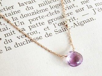 14KGF Amethyst Necklaceの画像
