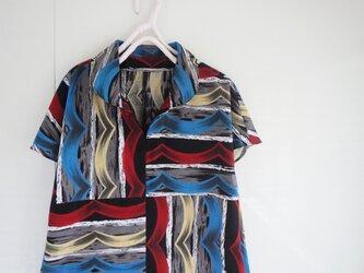 爽やか浴衣のブラウス さざ波Ⅱの画像