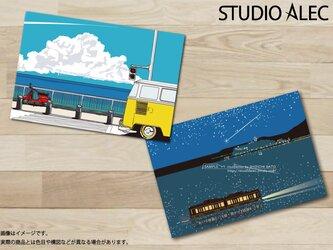 湘南イラスト ポストカード 2枚セット(D)の画像