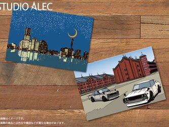 横浜イラスト ポストカード 2枚セットの画像