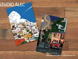 ヨーロッパのイラストポストカードセット 2枚セットの画像