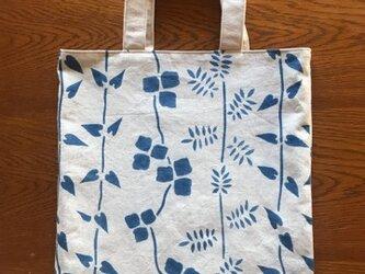 藍染めバッグ 蔓ならびの画像