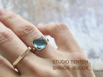 K10[ London blue topazの石言葉]ringの画像