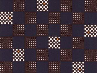 風呂敷 角市松 エコふろしき ポリエステル100% 68cm×68cm 紺の画像