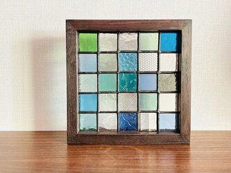 パネル・Composition(グリーン・ブルー)の画像