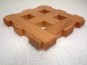 ホンザクラ格子組み敷物~小~の画像