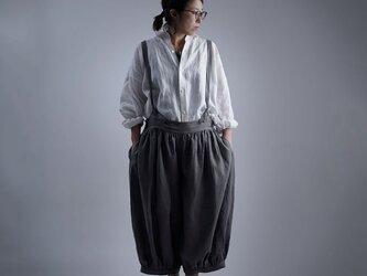 【wafu】Linen Pants サロペット アラジンパンツ /鈍色(にびいろ) b003d-nib1の画像