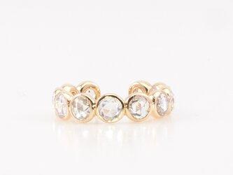 Round rosecut diamond ear cuff / shineの画像