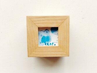 「雨音」 イラスト原画 ※木製額縁入りの画像