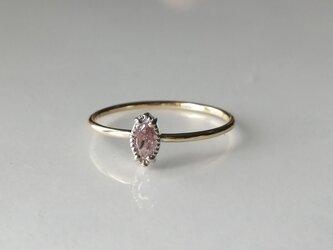 ファンシーパープリッシュピンクダイヤモンドリングの画像
