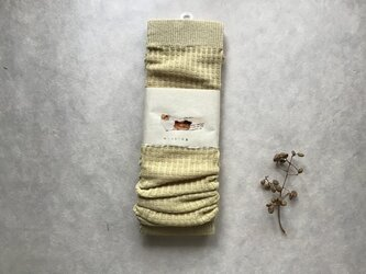草木染めアームウォーマー コットン⑤の画像