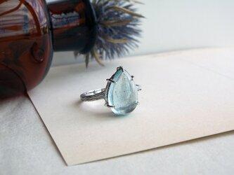 【一点物】大粒アクアマリンのリングの画像