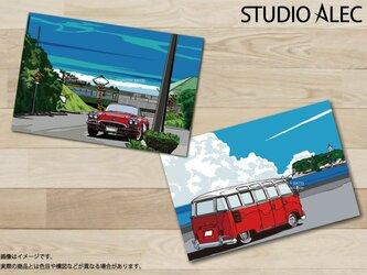 湘南イラスト ポストカード 2枚セット(F)の画像