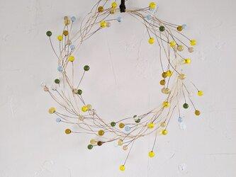 ガラス粒のリース80  | Yellowの画像